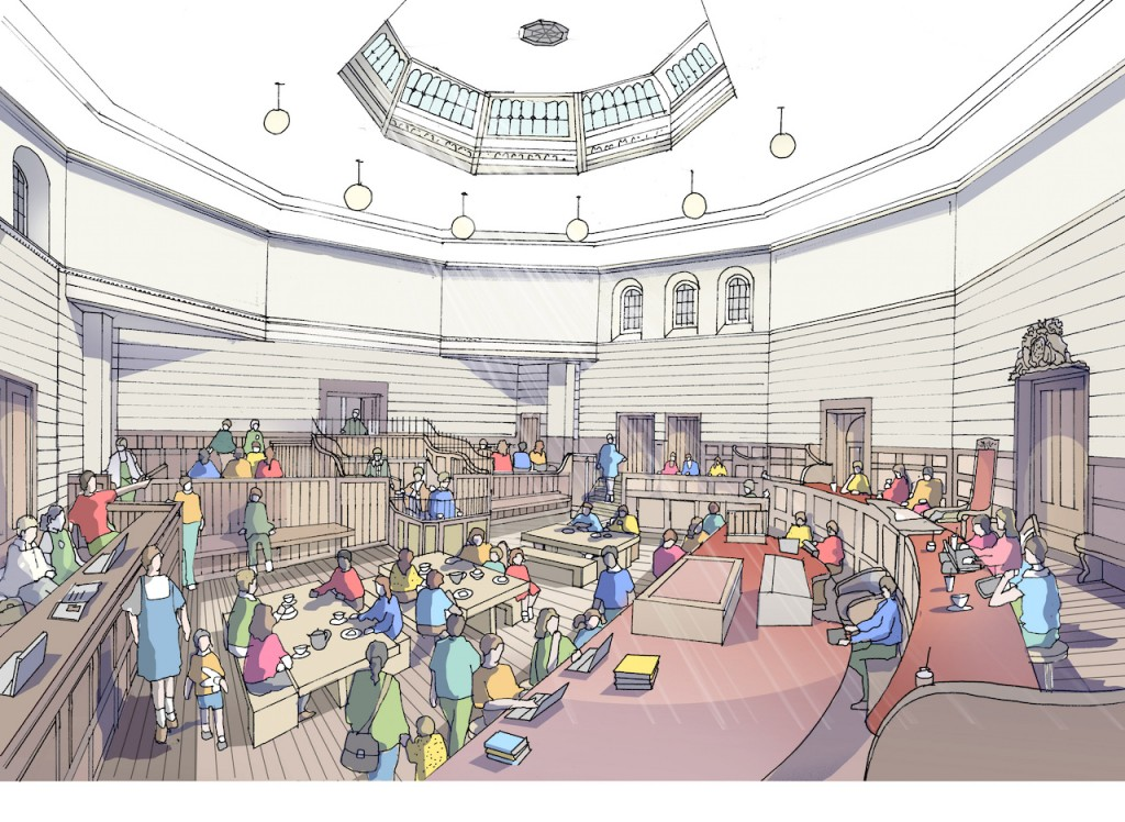 Courtroom - cafe artist impression, June 2015 rev1
