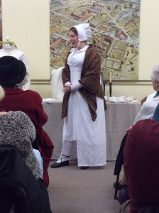 "Costume historian Gillian Stapleton at Verulamium Museum - Jane Eyre ""The well dressed governess"""