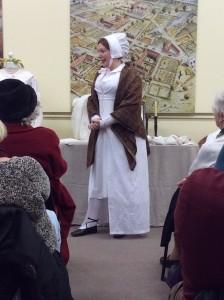 "Costume historian Gillian Stapleton at Verulamium Museum - Jane Eyre ""The well dressed governess"""